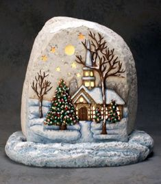 Best DIY Christmas Painting Rocks Design (70)