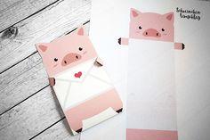 KuneCoco • Freebie • Schweinchen-Liebesbrief zum Ausdrucken