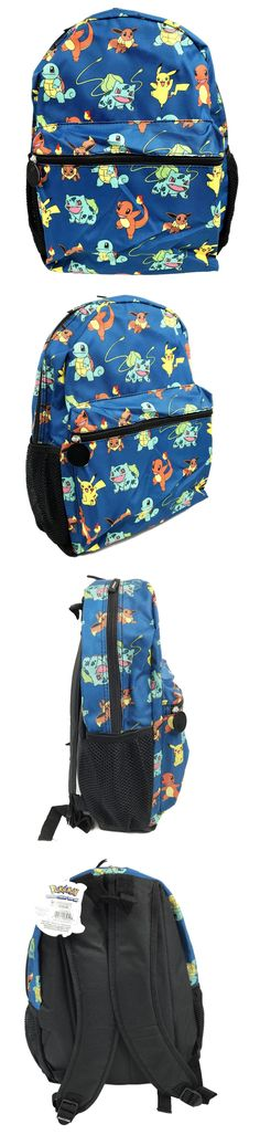 5593134c809b Backpacks and Bags 57882  New Pokemon Pikachu Charmander Squitle All Over  16 School Backpack Book