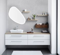 Dansani Luna - Countless possibilities in your bathroom regardless of size and shape. See Luna bathroom furnitures at Dansani and get inspiration for your bathroom. Bathroom Storage Units, Bathroom Storage Solutions, Bathroom Vanity Units, Wall Hung Vanity, Traditional Bathroom Furniture, Bathroom Furniture Design, Bad Inspiration, Bathroom Inspiration, Bathroom Inspo