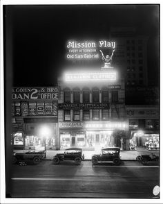 Downtown Los Angeles at night 1915