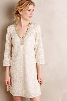 Gilded Empress Tunic Dress - anthropologie.com