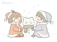 Cute Bear Drawings, Cute Animal Drawings Kawaii, Cute Little Drawings, Kawaii Art, Cute Chibi Couple, Couple Cartoon, Cute Couples Hugging, Cute Anime Couples, Easy Anime Eyes