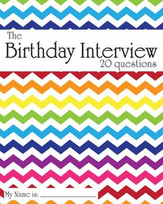 The Birthday Interview Book $14