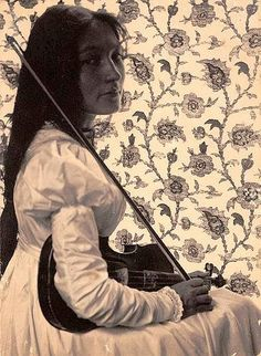 "Zitkala-Sa, 1898, by Gertrude Kasebier. Zitkala-sa (""Red Bird"") 1876-1938. Born on the Yankton Sioux Reservation, S. Dakota. AKA Gertrude Simmons Bonnin. She was a writer, musician, and activist. Founded National Council of American Indians in 1926. Played violin with the New England Conservatory of Music, Boston."