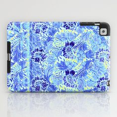 blue Floral iPad Case #vintage,#floral,#blue
