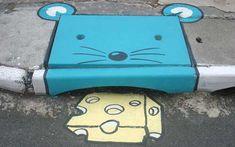 Chalk Street Art – 30 adorable creations by David Zinn graffiti *Graffiti graffiti By M-E-S-A art 3d Street Art, Amazing Street Art, Street Art Graffiti, Street Artists, Banksy, Land Art, David Zinn, Urbane Kunst, Best Graffiti