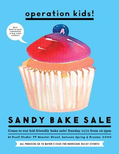 Hurricane Sandy Bake Sale this Sunday (please spread the word!)