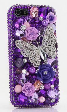 Purple Butterfly Design bling case cover made for iPhone 5/ 5S iPhone 6/ 6S Plus Samsung Galaxy S3/ S4/ S5 Samsung Note 3/ 4/ 5 Nokia Lumia Black Berry LG HTC and other devices. Crystal 3D phone cases available http://luxaddiction.com/collections/3d-designs/products/purple-butterfly-design-style-406
