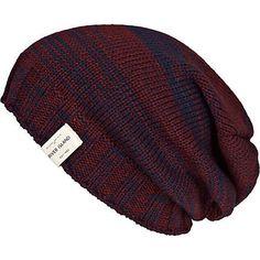 dark red space dye beanie hat - hats - accessories - men - River Island ($1-20)