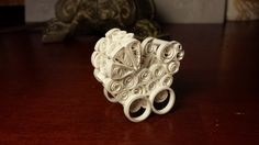 SALE paper quilling minature white baby buggy by WowItsPaper