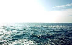 Beautiful ocean water - blue water and blue sky. Beautiful Water Scenes Wallpapers . Awsome Landscape Wallpapers. HD Wallpaper Download for iPad and iPhone