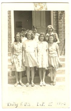Vacation Bible School Class 1940s Snapshot Vintage by MARKonPARK