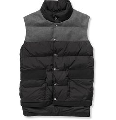 Marni– Quilted Shell and Felt Gilet