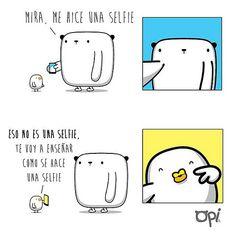 Te voy a enseñar como se hace una #selfie #opi #cute #kawaii #ilustración #dibujo