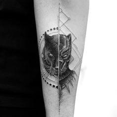 Awesome Black Panther tattoo by Balazs Bercsenyi