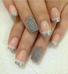 It's done by parmeet sandhu😘😘 Manicure And Pedicure, Gel Nails, Acrylic Nails, Nail Art Designs, Nagel Bling, Nails Only, Pretty Nail Art, French Tip Nails, Nagel Gel