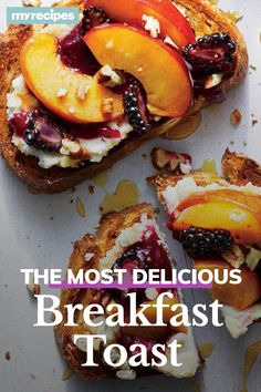 Whole grains, creamy ricotta, and a quick homemade jam deliver a treat-yo-self breakfast you can feel good about. Store-bought jams are loaded with What's For Breakfast, Breakfast Bowls, Low Carb Recipes, Cooking Recipes, Bread Recipes, Healthy Recipes, Brunch Recipes, Breakfast Recipes, Recipe For Mom