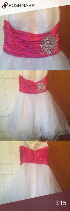 Girls dress S Used few times super condition only few crystals missing at the around belt area but not noticeable at all!!! Send your offer! In my opinion this S size feet to girls age 8,9 Dresses
