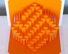 9x9 Obloid : kirigami pop-up paper sculpture by Ullagami on Etsy