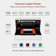 Phomemo Direct Thermal High Speed 4×6 Label Printer Shipping Label Printer, Thermal Labels, Mac Address, Technology Support, Thermal Printer, New Mobile, Printing Labels, Label Design