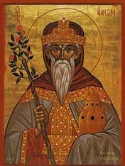 )rthodox icon of Prophet Aaron.