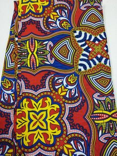 Per Yard Colorful African print fabric/ Floral cotton print/ African fabric supplies/ African clothing/ African fabric shop Ankara Fabric, African Fabric, African Crafts, African Print Clothing, African Jewelry, Marker Art, Fabric Shop, Red White Blue, Printing On Fabric