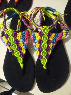 Sandalias a macrame