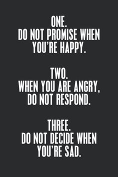 3 good things to keep in mind