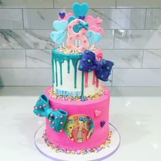Jojo silva cake by Liliana Da Silva from Sugarella Sweets Cakes And More, Cake Ideas, Wedding Cakes, Birthday Cake, Sweets, Baby Shower, Photo And Video, Desserts, Food