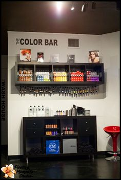 images about Color Bar Inspired Home Beauty Salon, Home Hair Salons, Hair Salon Interior, Beauty Salon Decor, Salon Interior Design, Home Salon, Beauty Salon Design, Hair And Beauty Salon, Beauty Room