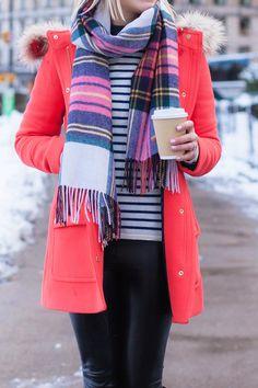 Red Coat - Lemon Stripes
