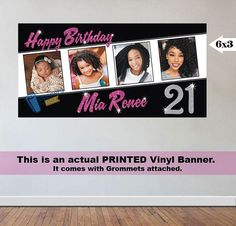 personalized graduation photo banner i made for a proud grad