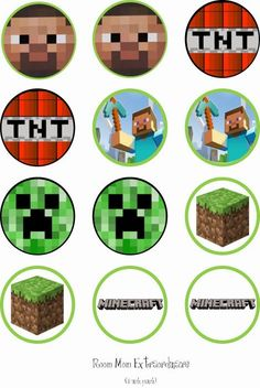 printable minecraft cupcake toppers - Google Search