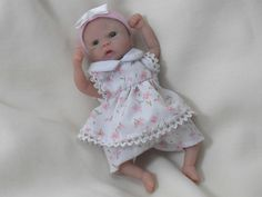 Hand sculpted Polymer Clay Baby Doll.