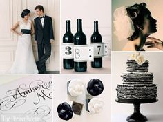 classic http://www.theperfectpalette.com/2012/04/classic-wedding-palette-of-black-white.html