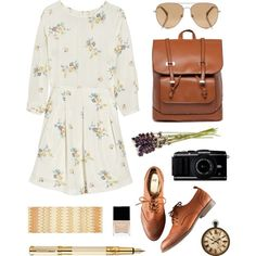 xxxii. by audeamus on Polyvore featuring moda, Band of Outsiders, H&M, Janavi, Michael Kors, Butter London and Waterman