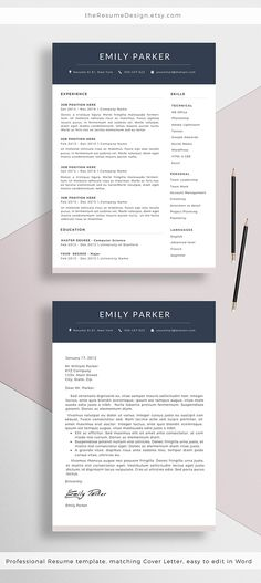 Modern Resume Template - the April A well, Template and The ou0027jays - resume questions