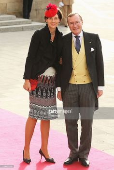 Prince Jean of Luxembourg (R) and Countess Diane of Nassau attend the wedding ceremony of Prince Guillaume Of Luxembourg and Princess Stephanie of Luxembourg at the Cathedral of our Lady of Luxembourg on October 20, 2012 in Luxembourg, Luxembourg. The 30-year-old hereditary Grand Duke of Luxembourg is the last hereditary Prince in Europe to get married, marrying his 28-year old Belgian Countess bride in a lavish 2-day ceremony.  (Photo by Sean Gallup/WireImage)