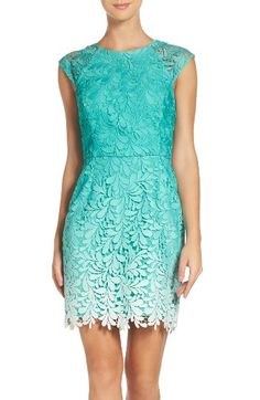 Free shipping and returns on Adelyn Rae Ombré Lace Sheath Dress at Nordstrom.com. Leafy, embroidered lace looks all the more captivating saturated in an ombré palette over this figure-flattering cocktail dress.