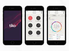 Tiko branding, by Moving Brands Design Logo, Identity Design, App Design, Visual Identity, Graphic Design, Corporate Identity, Corporate Design, Business Design, Design Innovation
