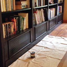 Billy Bookcase Cover Elegant Chary Sprouts Custom Built In Ikea Billy Bookcases Baseboard Radiator, Baseboard Heater Covers, Baseboard Heating, Baseboards, Ikea Billy Bookcase Hack, Built In Bookcase, Billy Bookcases, Ikea Closet Hack, Closet Hacks