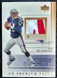 b925907aed6 Drew Bledsoe 2001 Upper Deck Premium Patch Game Worn Patriots SCARCE