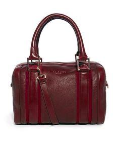 Ted Baker   Ted Baker Kamilio Oxblood Leather Bowler Bag at ASOS