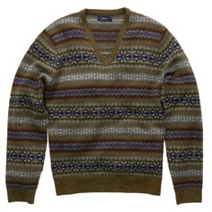 a8962f339ce Gant N Y Lambswool Multi Fairisle V Neck Jumper - was £120 NOW £80 with