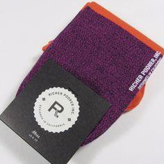 "RICHER POORER Men's Quality ""HOSTAGE LOW"" No-Show Socks ORANGE/NAVY One Size NWT #RicherPoorer #Casual"
