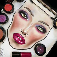☾ ♡ face charts makeup face charts, mac face charts и makeup ch Makeup Inspo, Makeup Art, Beauty Makeup, Eye Makeup, Mac Face Charts, Makeup Face Charts, Make Natural, Makeup Illustration, Too Faced