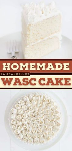 White Almond Sour Cream Cake or WASC Cake is a classic and easy cake recipe that tastes so good! This easy-to-make sweet treat holds up very well to decorating and fondant. Pin this homemade and easy dessert!
