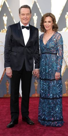 2016 Oscars Red Carpet Photos - Bryan Cranston and Robin Dearden - from InStyle.com