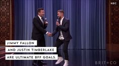 Watch this celebrity video to see what Jimmy Fallon and Justin Timberlake are the definition of BFF goals.